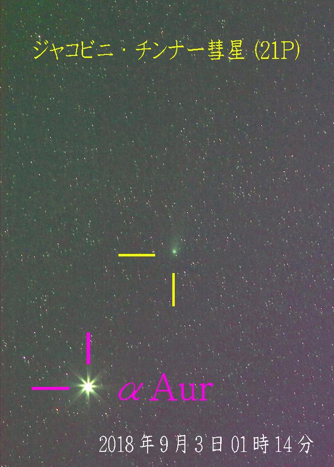 ジャコビニ・チンナー彗星201809030117