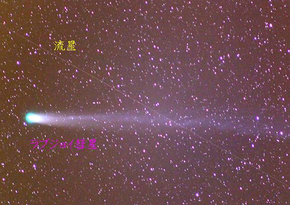 ラブジョイ彗星と流星