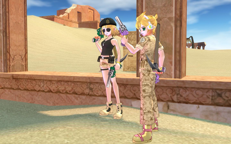 砂漠の砂嵐服2