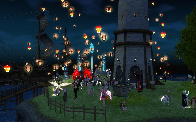 天灯祭り1