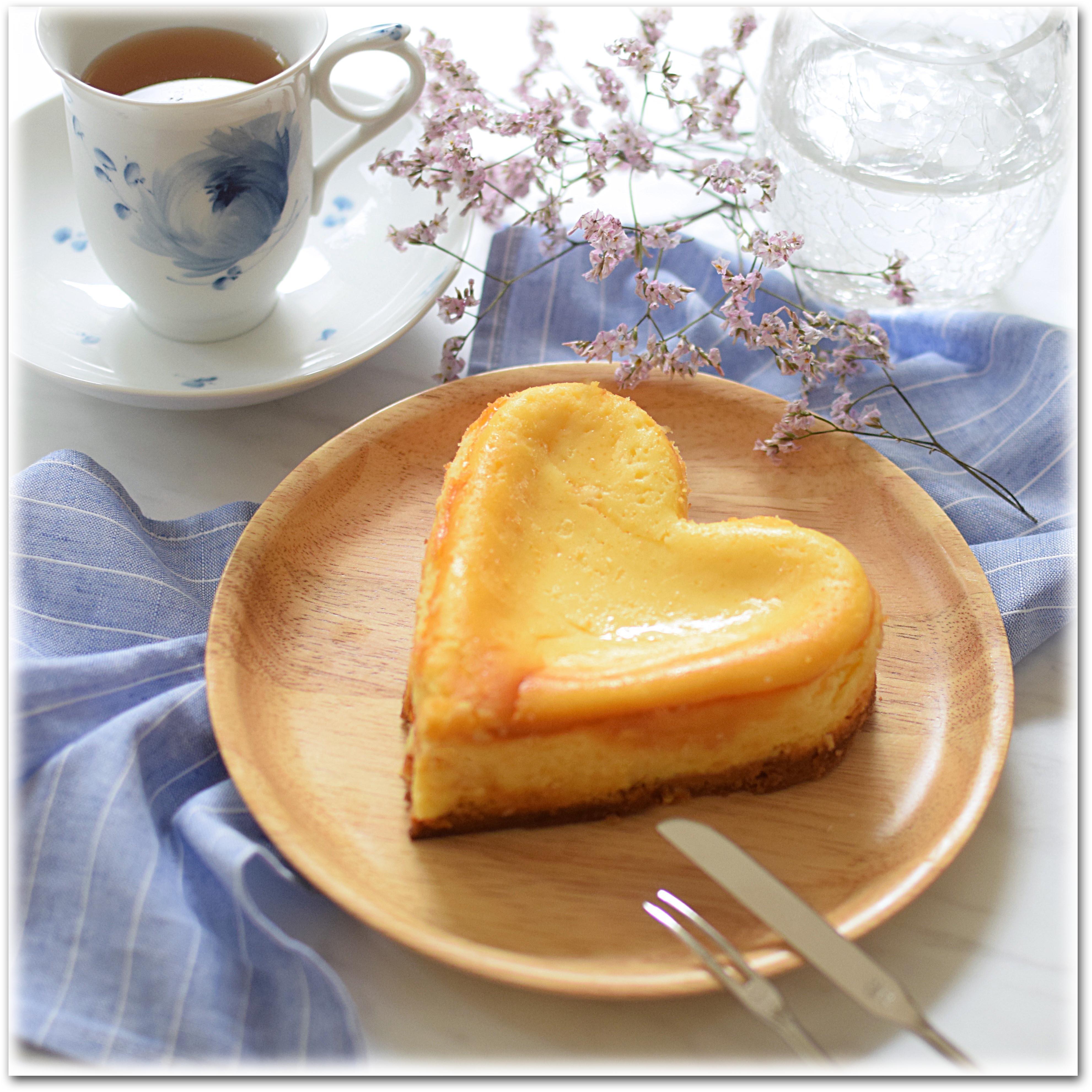ハートチーズケーキ