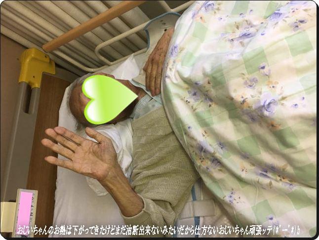 おじいちゃんがんば