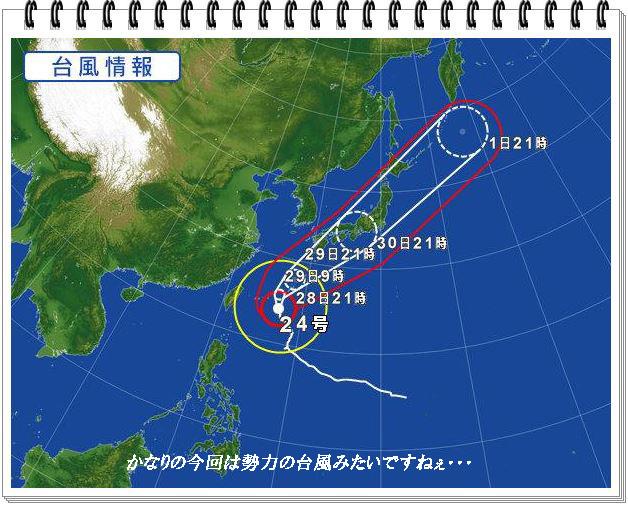 勢力の台風
