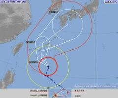 台風24号 進路予想