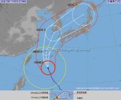 台風25号 進路予想