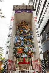 博多祇園山笠 二番山笠 千代流 飾り山 鎮西三雄博多護 ちんぜいのさんゆうはかたをまもる