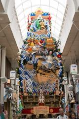 博多祇園山笠2018 八番山笠 上川端通 走る飾り山笠 義経八艘飛