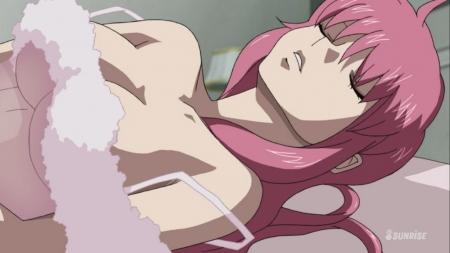 ガンダムSEED DESTINY HDリマスター版 ミーア・キャンベルの夜這いシーン透けネグリジェ胸裸ヌード29