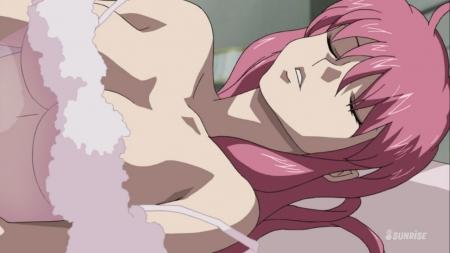 ガンダムSEED DESTINY HDリマスター版 ミーア・キャンベルの夜這いシーン透けネグリジェ胸裸ヌード30
