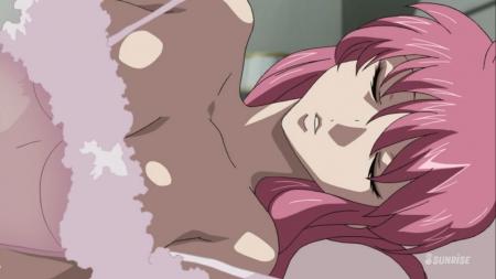 ガンダムSEED DESTINY HDリマスター版 ミーア・キャンベルの夜這いシーン透けネグリジェ胸裸ヌード31