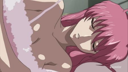 ガンダムSEED DESTINY HDリマスター版 ミーア・キャンベルの夜這いシーン透けネグリジェ胸裸ヌード32