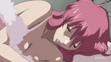 ガンダムSEED DESTINY HDリマスター版 ミーア・キャンベルの夜這いシーン透けネグリジェ胸裸ヌード34