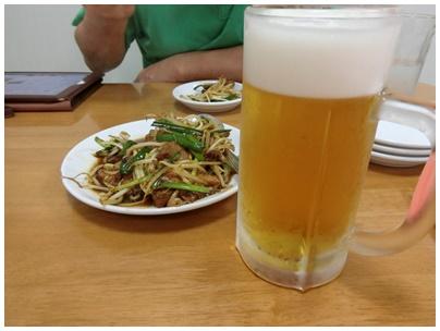 レバニラとビール