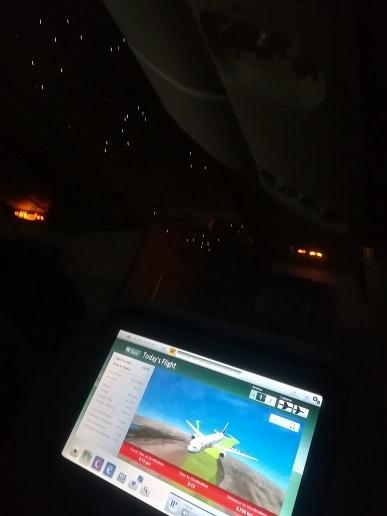12 お休みモードでチベット高原を飛行中