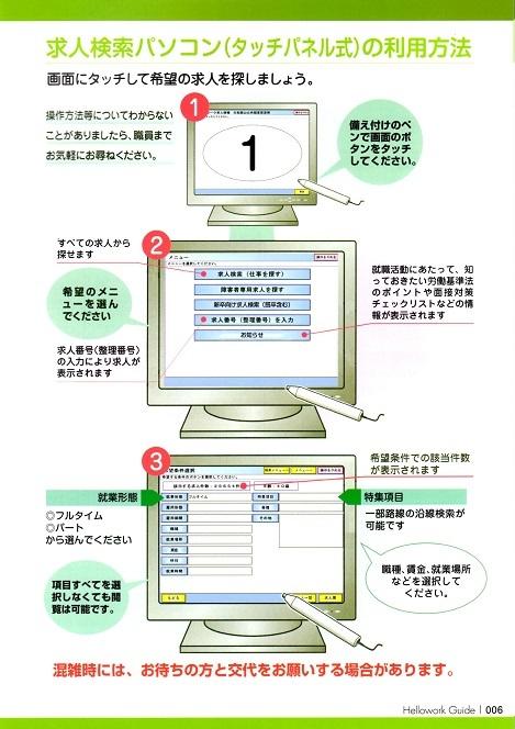 3 求人検索パソコンの利用方法