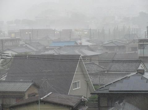 9 風雨が一番強いと感じた時の風雨