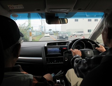 2 山の会の仲間の車で那須へ向かう