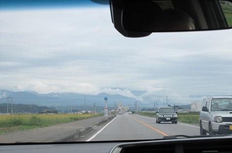 3 左に高原山 前方に那須の山々