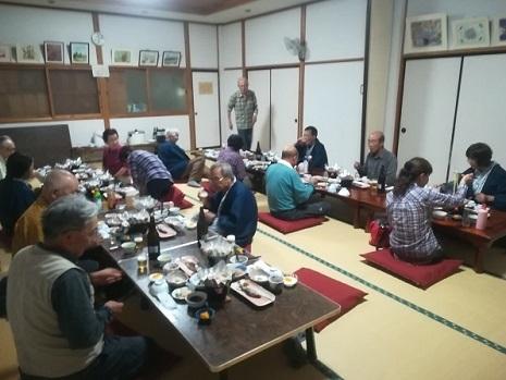 28 群馬県片品村の宿での夕食