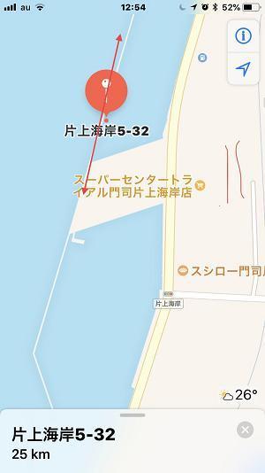 9月20日 片上漁港 地図
