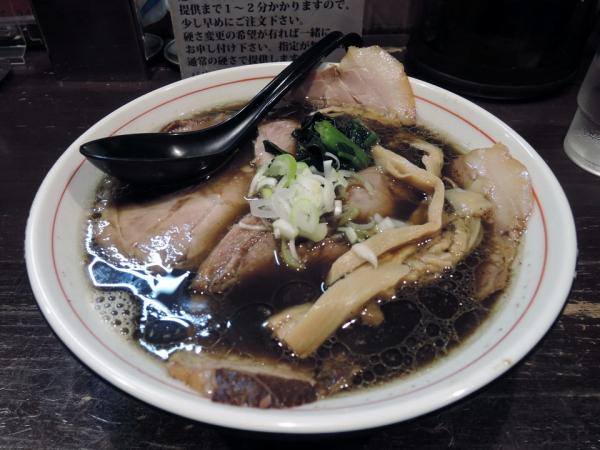 ラーメン屋切田製麺_黒正油チャーシュー麺