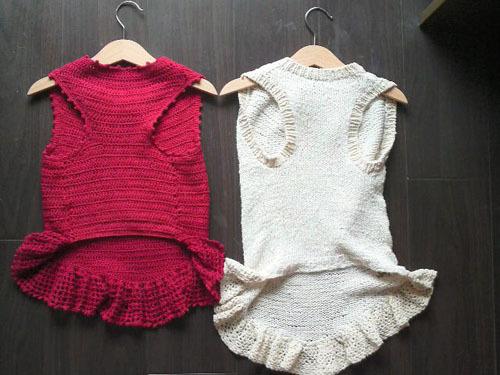レイの赤いセーター短い