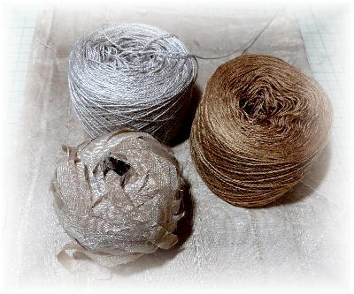裂き織りマフラー22