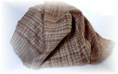 裂き織りマフラー24-1