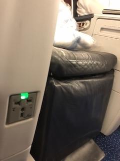 エジプト航空ビジネスクラス電源
