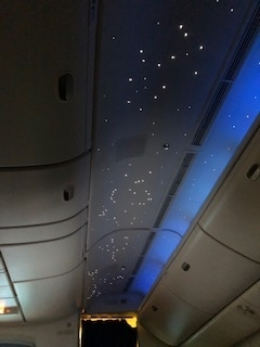エジプト航空ビジネスクラス星空