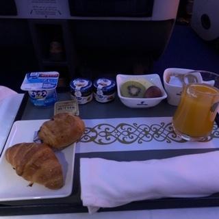 エジプト航空ビジネスクラス朝食