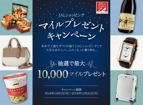 JALは、JALショッピング利用で最大10,000マイルがプレゼントされるキャンペーンを開催!