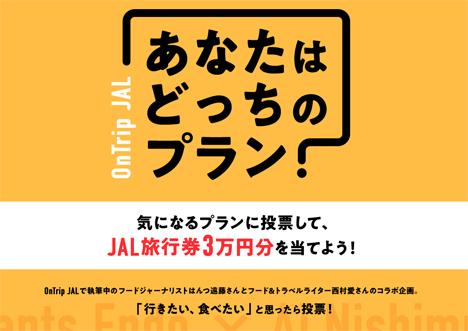 JALは、気になるプランへの投票で旅行券3万円分が当たる「旅プラン投票キャンペーン」を開催!