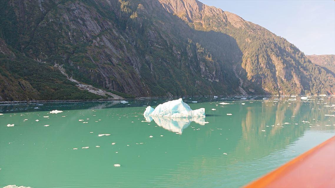ジュノーへ向かう途中のソーヤー氷河