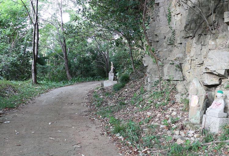 爺神山の遍路道の横に 30 8 31