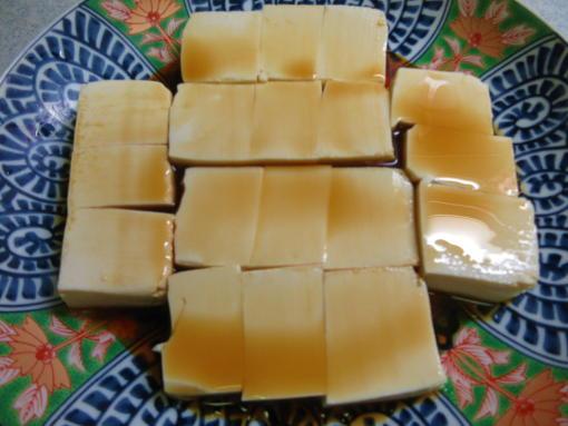 222 豆腐にポン酢醤油(1)