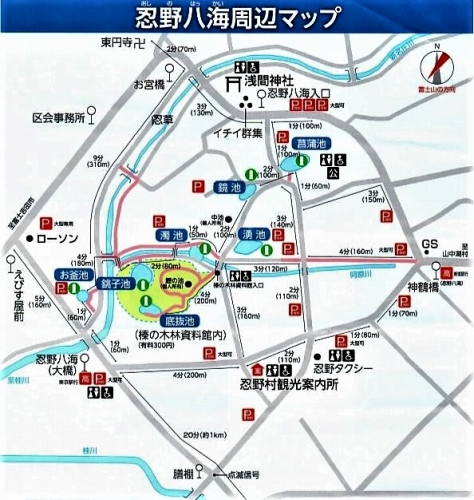 ☆忍野八海地図11