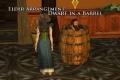 dwarf in a barrel