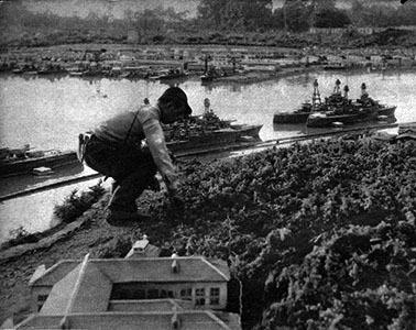 「ハワイ・マレー沖海鮮」(1942年)の特撮セット