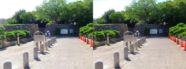 明石公園 東入口(交差法)
