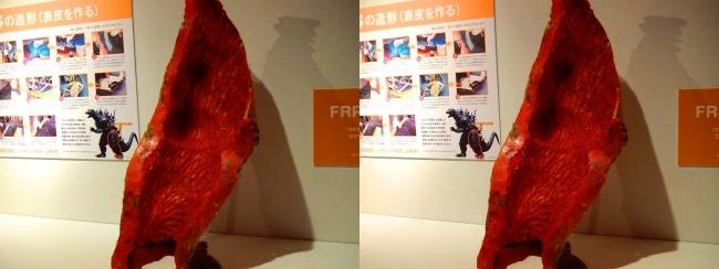 「特撮のDNA展」ゴジラ 脚型(交差法)