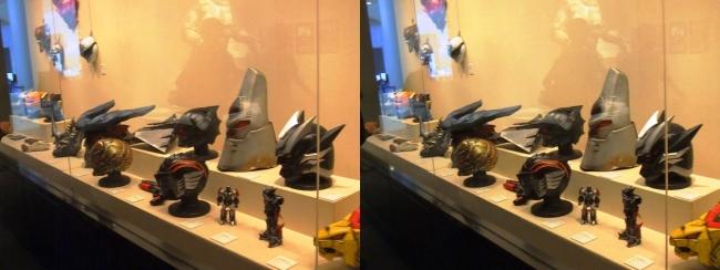 「超星神グランセイザー」(2003年)・「幻星神ジャスティライザー」(2004年)「超星艦隊セイザーX」(2005年)各マスク(平行法)