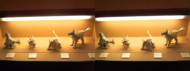 「ゴジラ モスラ キングギドラ 大怪獣総攻撃」(2001年)アンギラス・バラゴン・キングギドラ頭部・バラゴン 雛形(平行法)