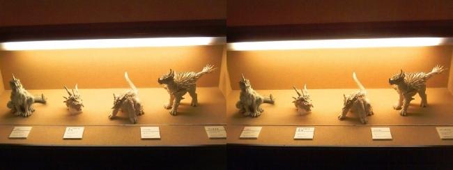 「ゴジラ モスラ キングギドラ 大怪獣総攻撃」(2001年)アンギラス・バラゴン・キングギドラ頭部・バラゴン 雛形(交差法)