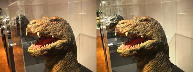 「ゴジラVSキングギドラ」(1991年)ゴジラザウルス 頭部②(平行法)