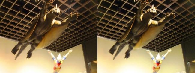 「大怪獣バラン」(1958年)バラン 飛行形態・「ゴジラ対メガロ」(1973年)ジェット・ジャガー(平行法)