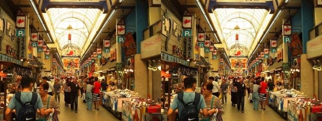 魚の棚商店街①(平行法)