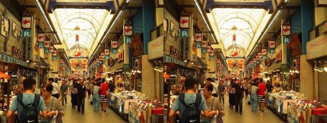 魚の棚商店街①(交差法)
