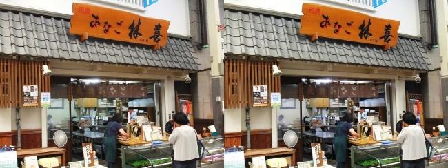 魚の棚商店街 炭焼あなご 林喜商店(平行法)