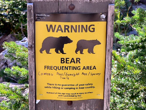 03a 600 sign warning bear